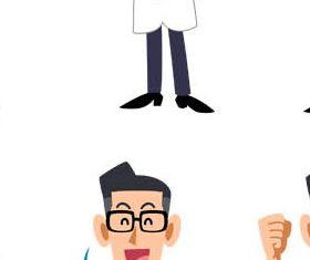 Doctors and Nurses 2 set vector