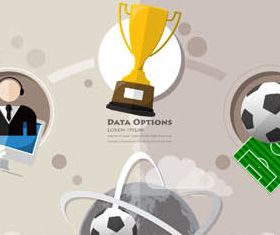 Sport Infographics Backgrounds vector set