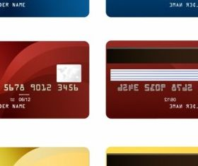 Credit Card two sides Vector Illustration