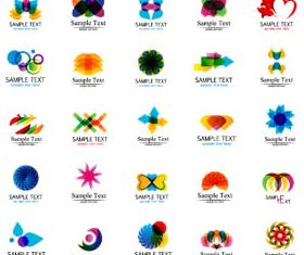 Abstract Business Logotypes 2 vectors graphics