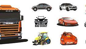 Cool car material vector design