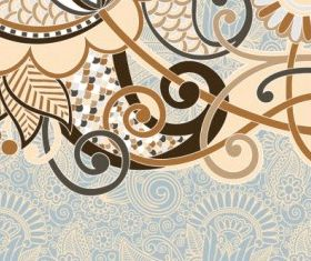 retro classic pattern background 03 vector