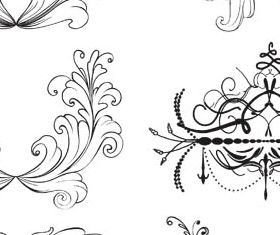 Floral Ornament Elements Mix 15 vectors