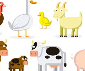Animals on Farm free Illustration vector