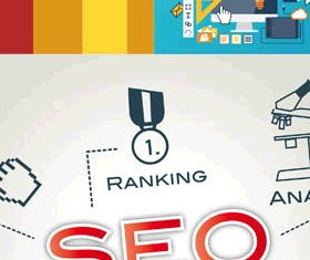 Stylish SEO Backgrounds 3 vector graphics