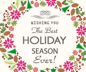 Retro Holiday Card creative vector