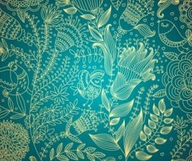 classical floral pattern 04 vector
