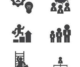 Human Resources Icons Set design vectors
