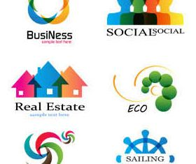 Abstract Business Logotypes vector graphics