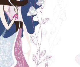 fashion beauty illustrator 05 shiny vector