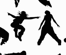 Dancing People Set vectors graphics