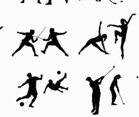 Silhouettes sportsmen 3 vector