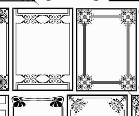 Decorative Vintage Frames 27 vectors graphic