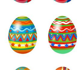 Easter Shiny Eggs 3 vector set