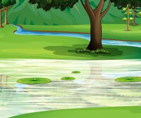 Landscapes Backgrounds Mix 3 vector