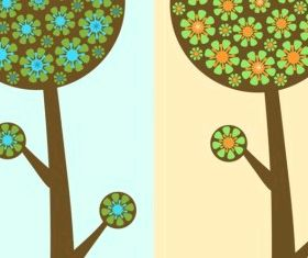 Flower Trees Free vector