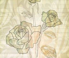 elegant rose pattern background 05 vector