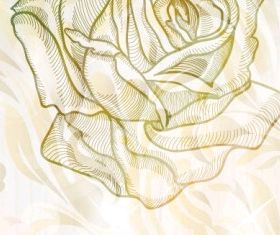 elegant rose pattern background 03 vector