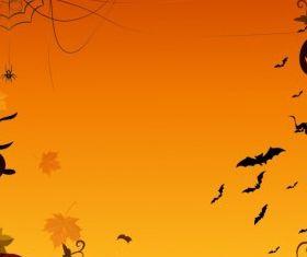halloween pumpkin border vector