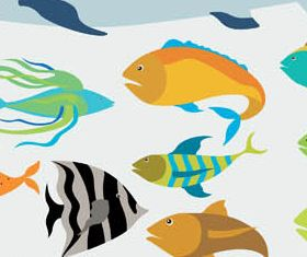 Ocean Fishes free vectors material