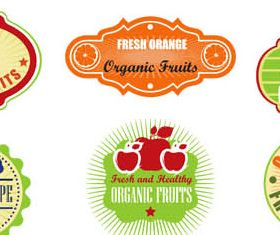 Natural Food Labels vector