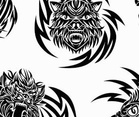 Animals Tattoo graphic vectors material
