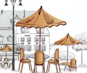 roadside cafes 02 design vector