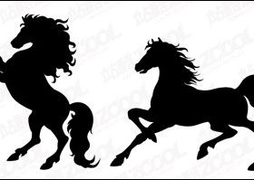 Horse silhouette Illustration vector