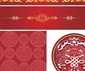 chinese style pattern design vector