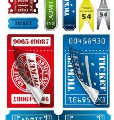 label stubs vector