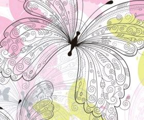 beautiful butterfly pattern 02 shiny vector