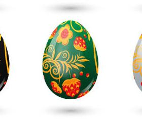Easter Eggs graphic set vector