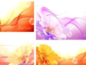 background with flowers dream vector