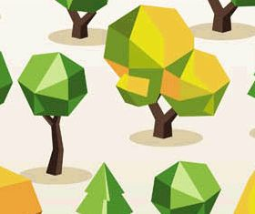 Abstract Trees Set vector