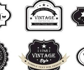 Black Sale Labels free vector