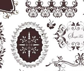 Ornamental Borders Elements 9 Illustration vector
