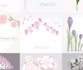 flower background vector graphics