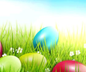 Easter Backgrounds 2 vectors graphic