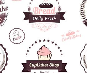 Food Vintage Bakery Labels vector