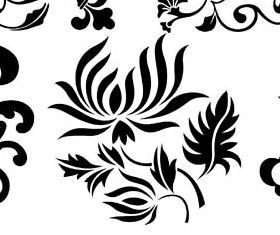 Floral Ornament Elements Mix 11 vector