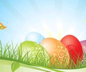 easter background 02 vector material