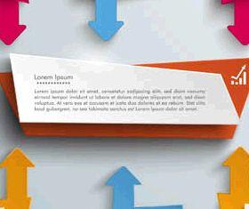 3D Infographics Backgrounds 3 vector
