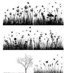 florsilhouette vector