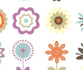 Retro Floral Ornaments vectors