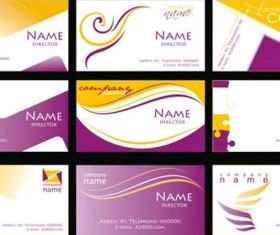 purple business card template vector