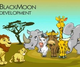 african animals Free set vector