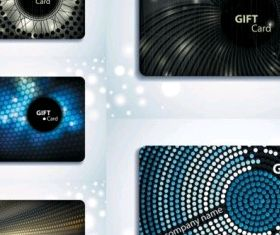 gift card background vectors material