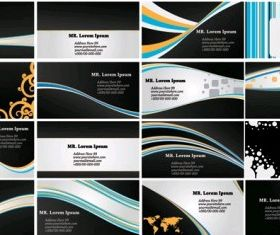 dynamic lines card background vector