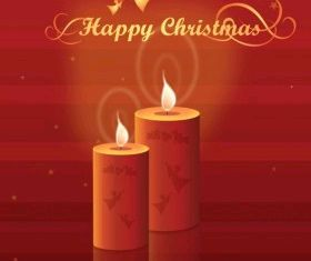 Christmas Candles free vectors graphic