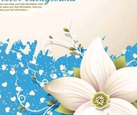 flowers shading background 03 vector design